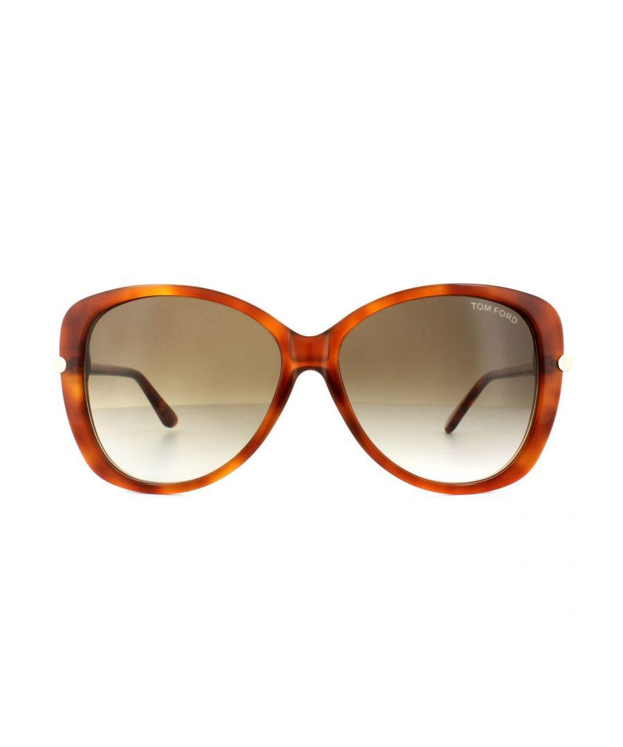 Image for Tom Ford Sunglasses 0324 Linda 56F Havana Brown Gradient