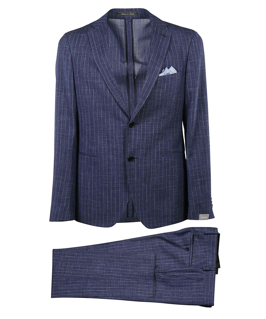 Image for CANTARELLI MEN'S 215332582491307 BLUE WOOL SUIT