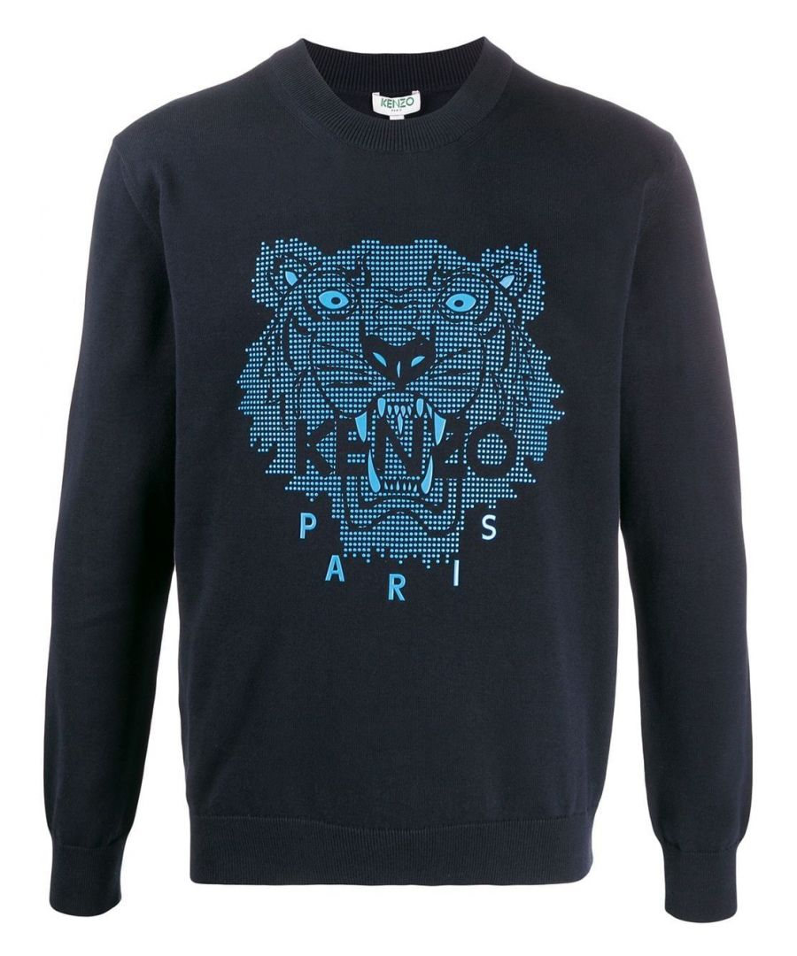 Image for KENZO MEN'S FA55PU5003XB77 BLUE COTTON SWEATER