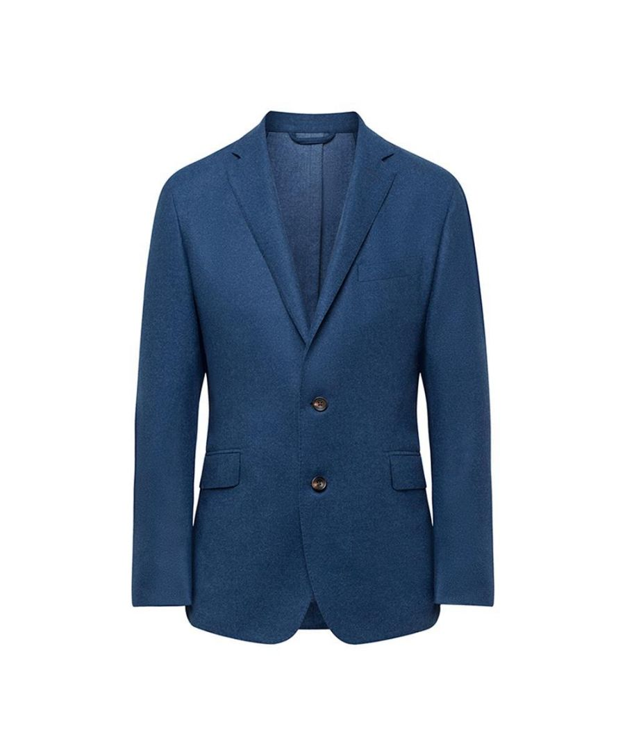 Image for Men's Hackett, Mayfair Double Face Flannel Jacket in Military Blue