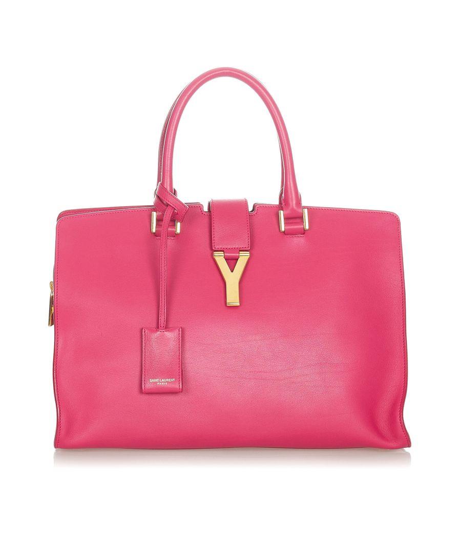 Image for Vintage YSL Cabas Chyc Leather Satchel Pink