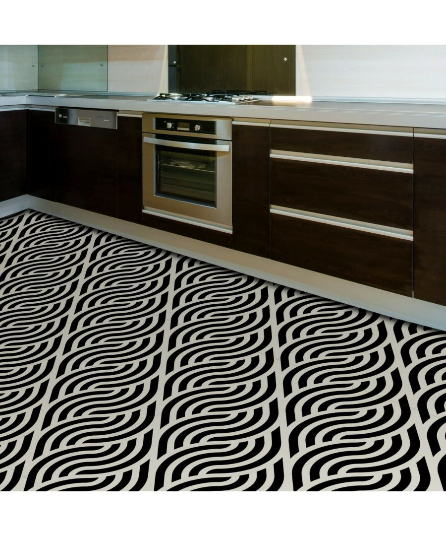 Image for WFS6028 - Large-scale Abstract Flowing Lines Pattern Floor Stickers 120cm x 60 cm