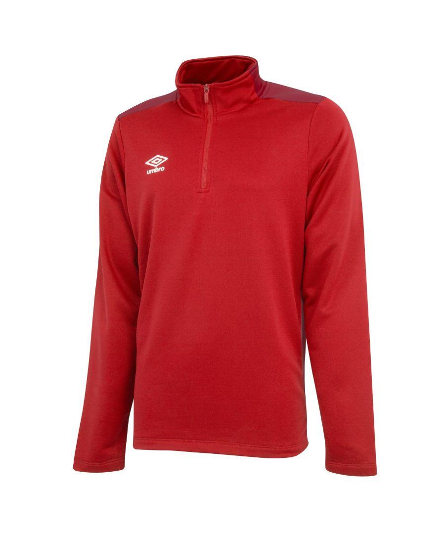 Image for Umbro Boys Half Zip Sweatshirt (Vermillion/Jester Red)