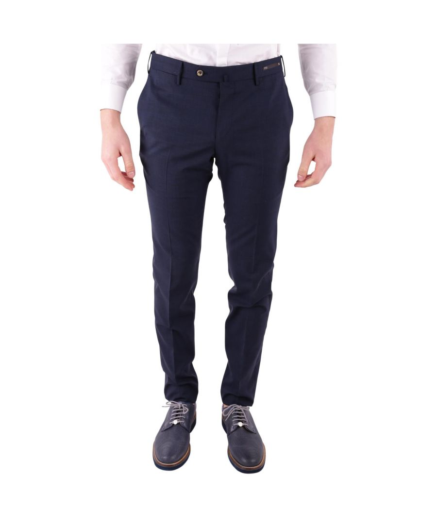 Image for PT01 MEN'S DSTVZ00NTVPO480350 BLUE COTTON PANTS