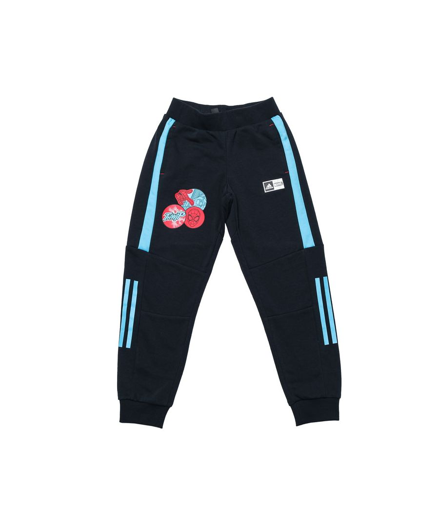 Image for Boy's adidas Junior Spider-Man TapeRed Leg Pants in Navy
