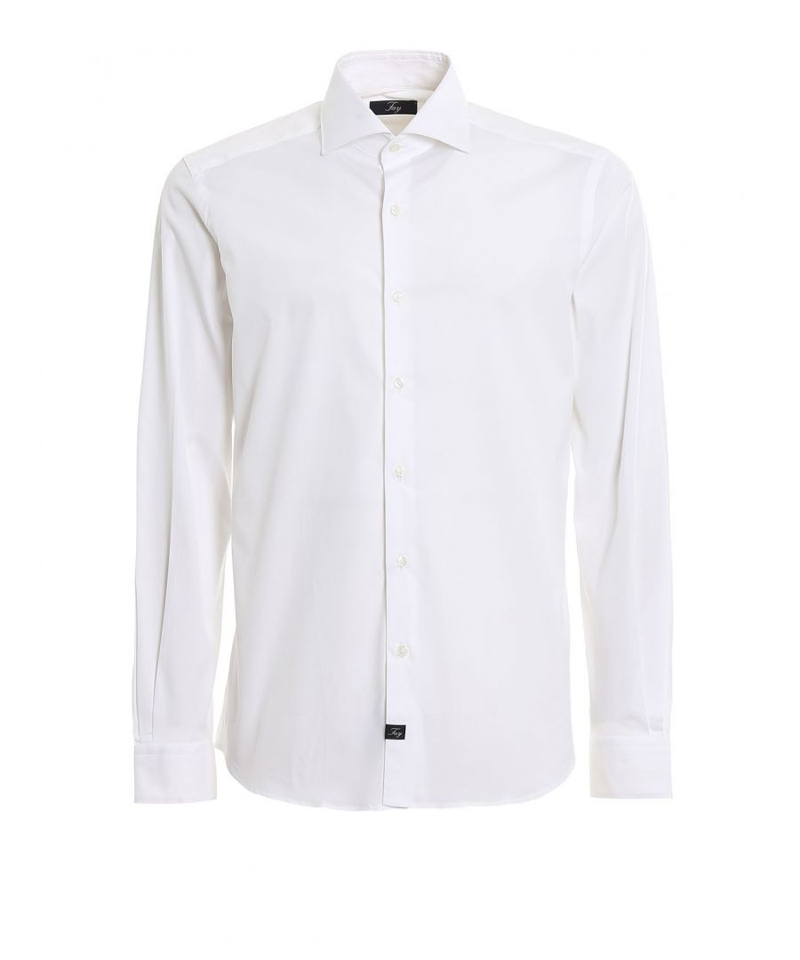 Image for FAY MEN'S NCMA139259SORMB001 WHITE COTTON SHIRT