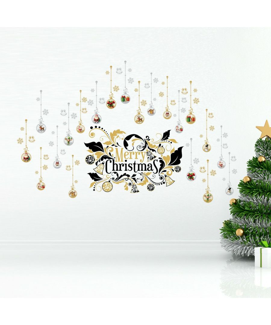 Image for WFXC9316 - WS4029 + WS4030 + WS6301 - Merry Christmas Ornaments Big Set Wall Stickers