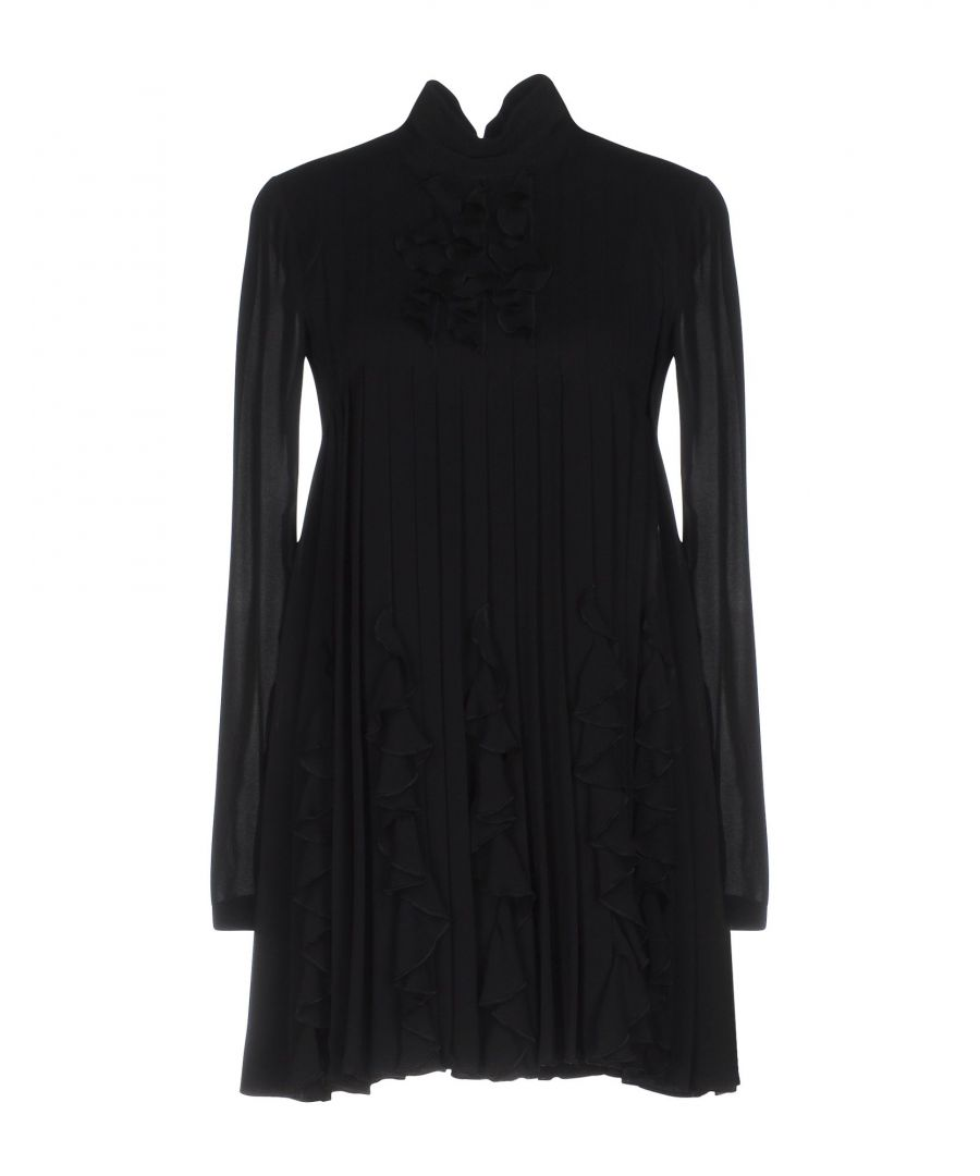 Image for Dsquared2 Silk Long Sleeve Pleated Dress