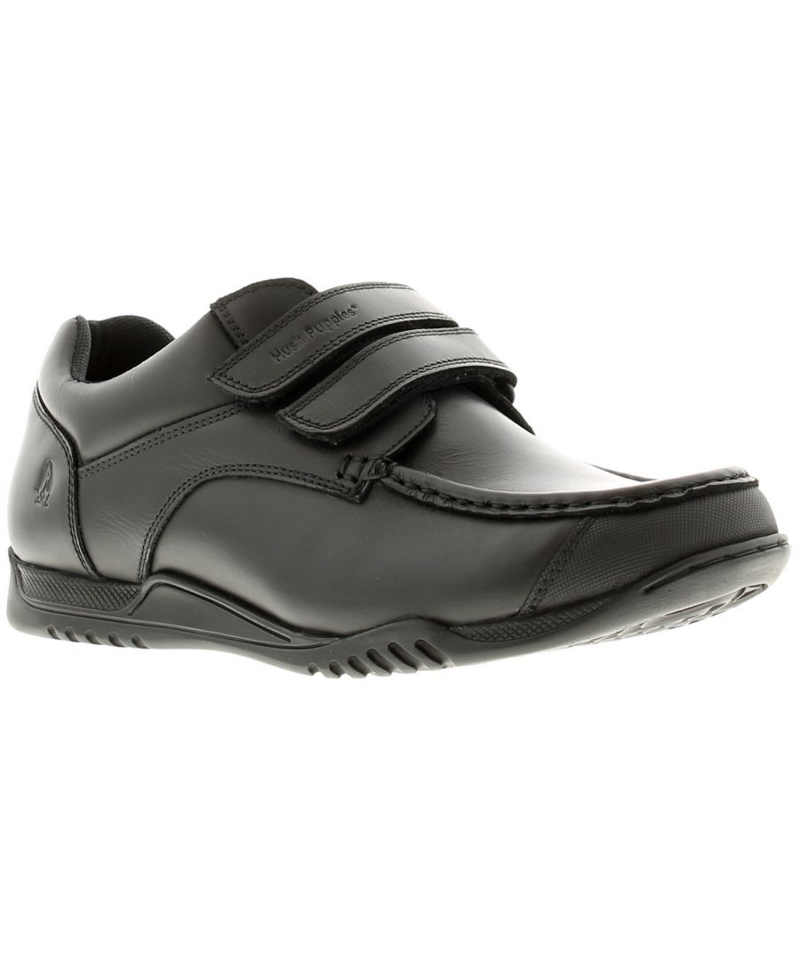 Image for Hush Puppies hayden leather older Boys School Shoes & Trainers black 13 - 6