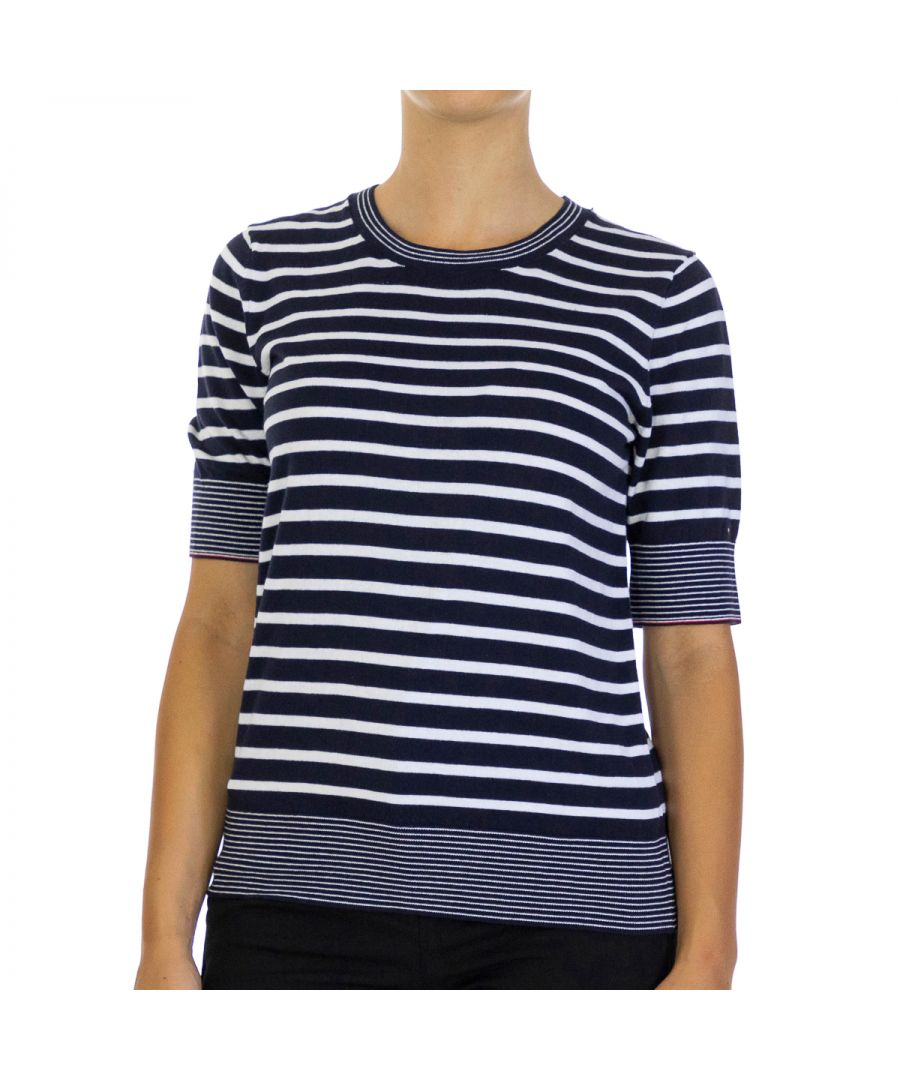 Image for Tommy Hilfiger Women Pullover Kandee   Half sleeve Multicolor