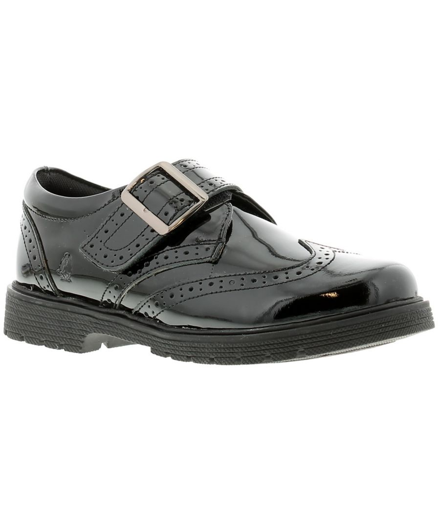 Image for Hush Puppies rhiannon Younger Girls School Shoes Patent Coated Leather black 9-2