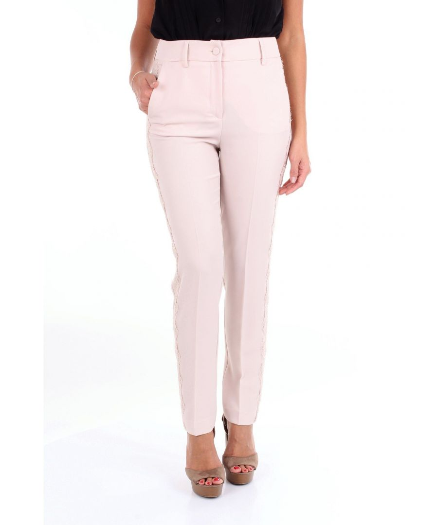 Image for BLUMARINE WOMEN'S 3629NUDE PINK POLYESTER PANTS