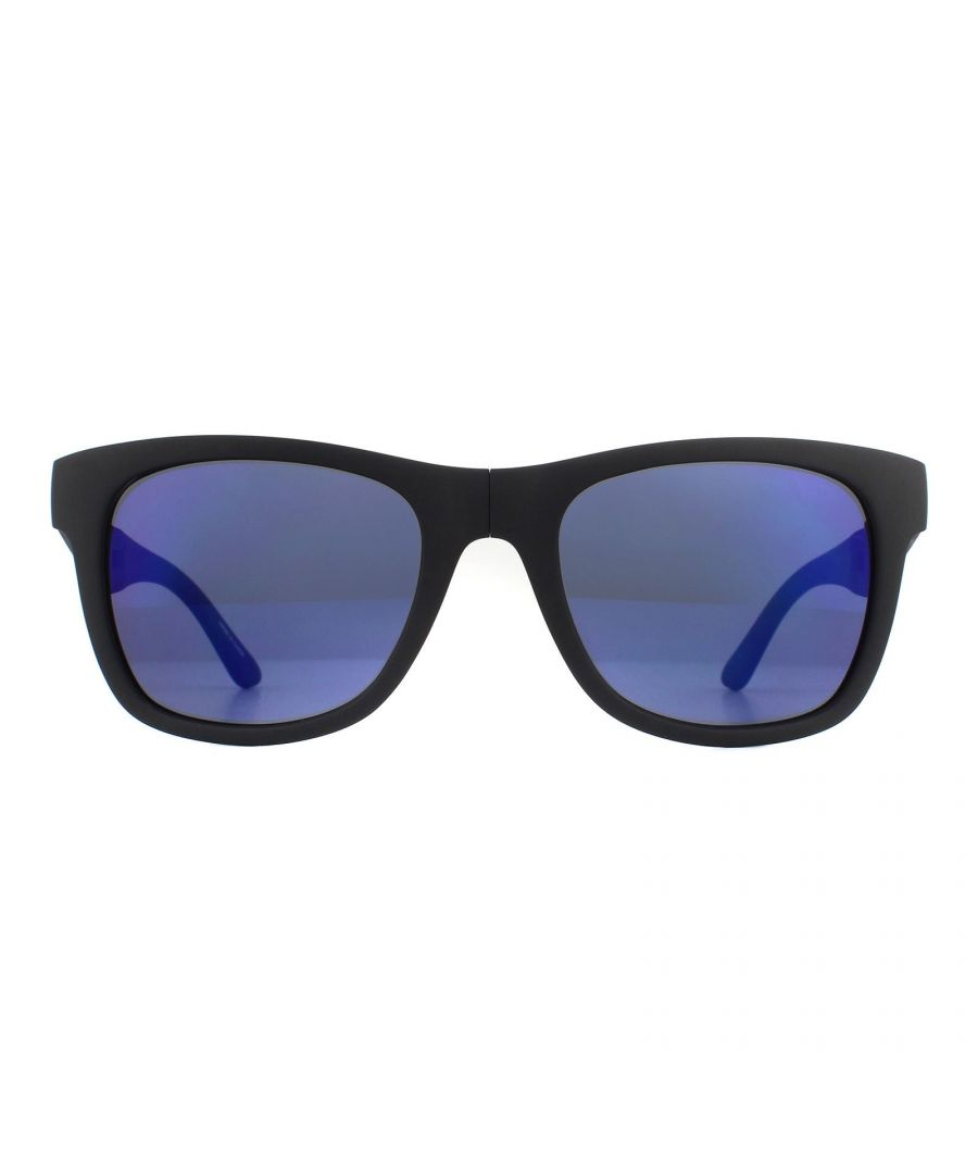 Image for Lacoste Sunglasses L778S 002 Matte Black Blue Gradient Folding