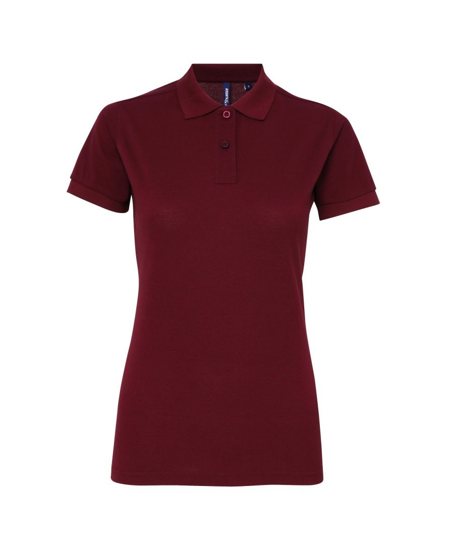 Image for Asquith & Fox Womens/Ladies Short Sleeve Performance Blend Polo Shirt (Burgundy)