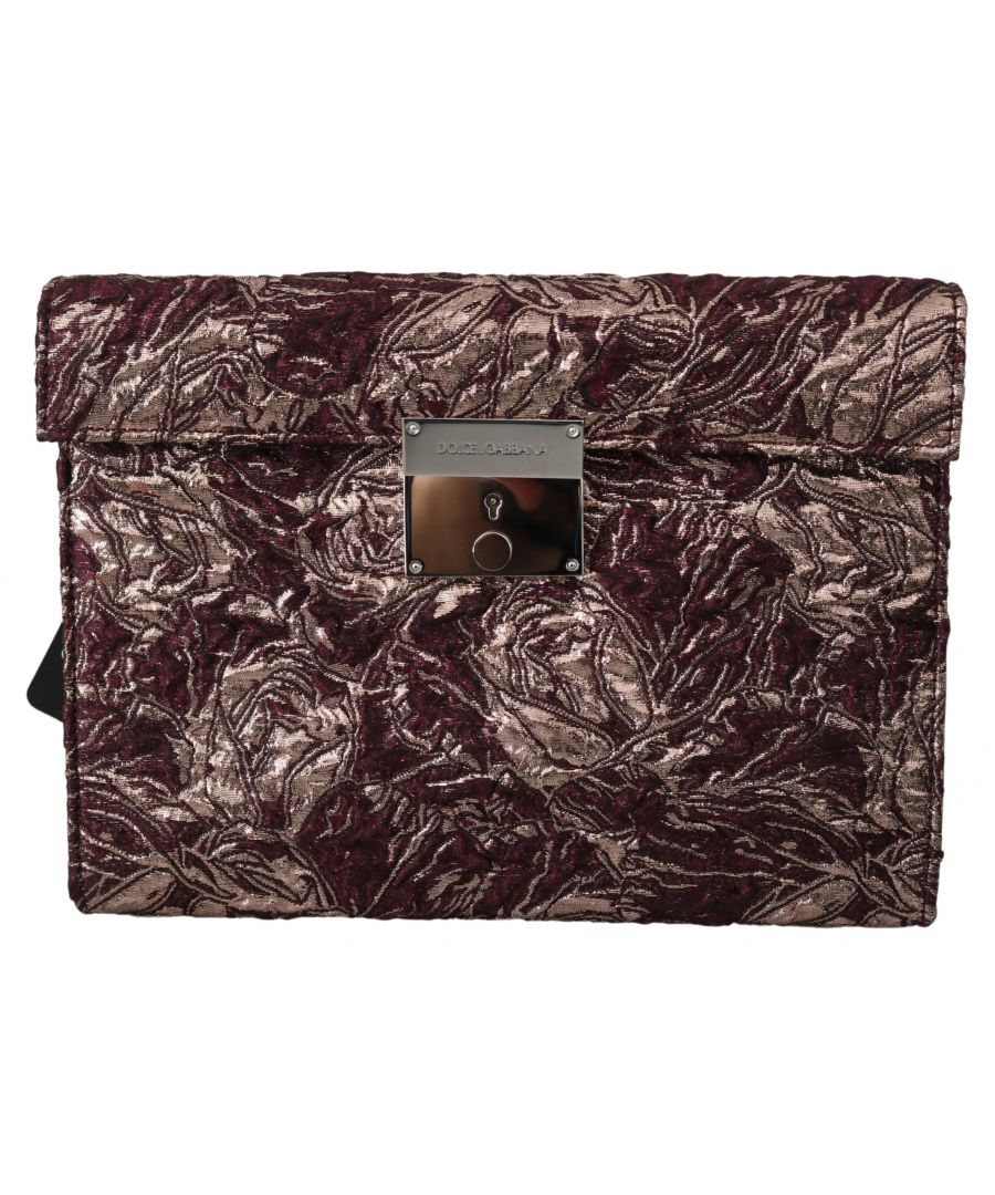 Image for Dolce & Gabbana Bordeaux Jacquard Leather Mens  Document Briefcase Bag