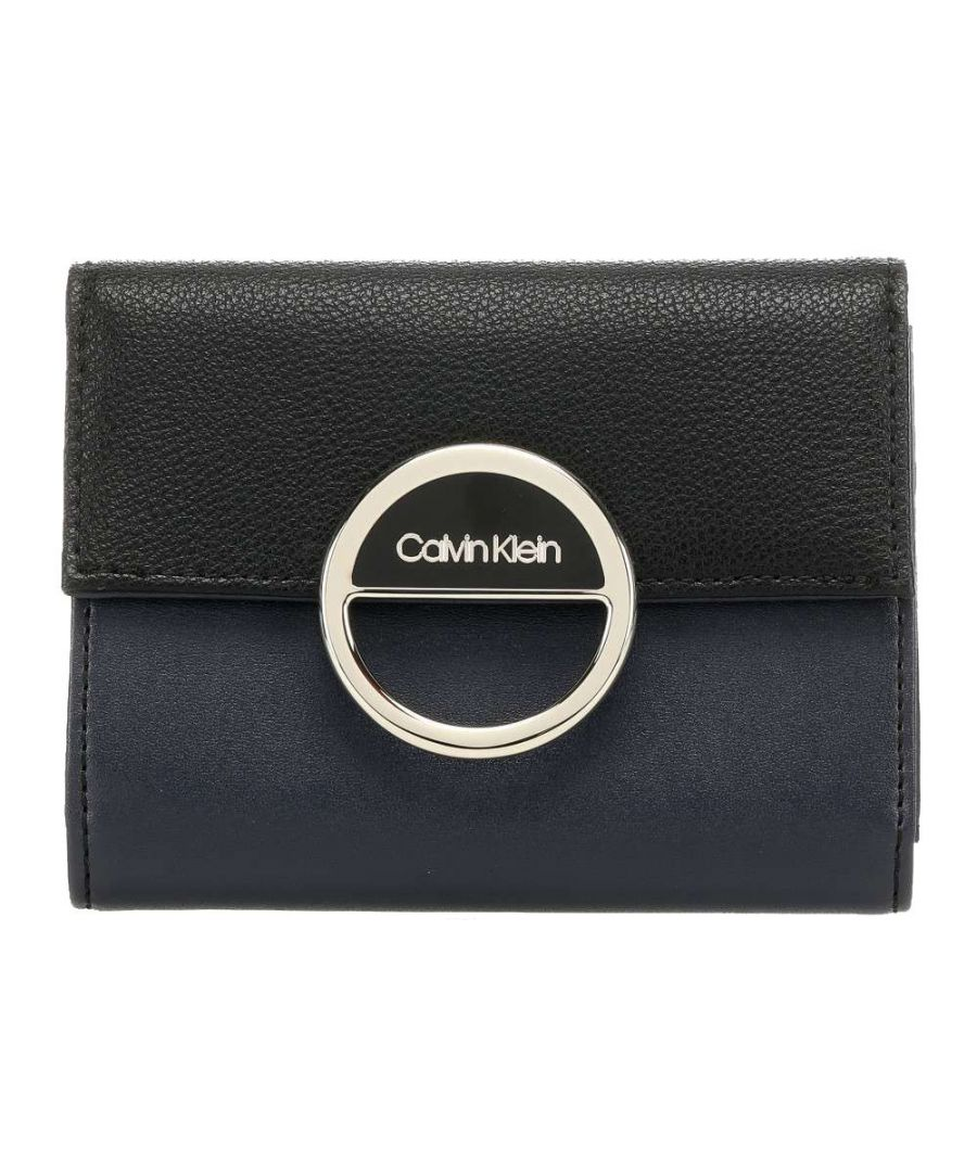 Image for CALVIN KLEIN WOMEN'S K60K606545BAX BLUE FAUX LEATHER WALLET