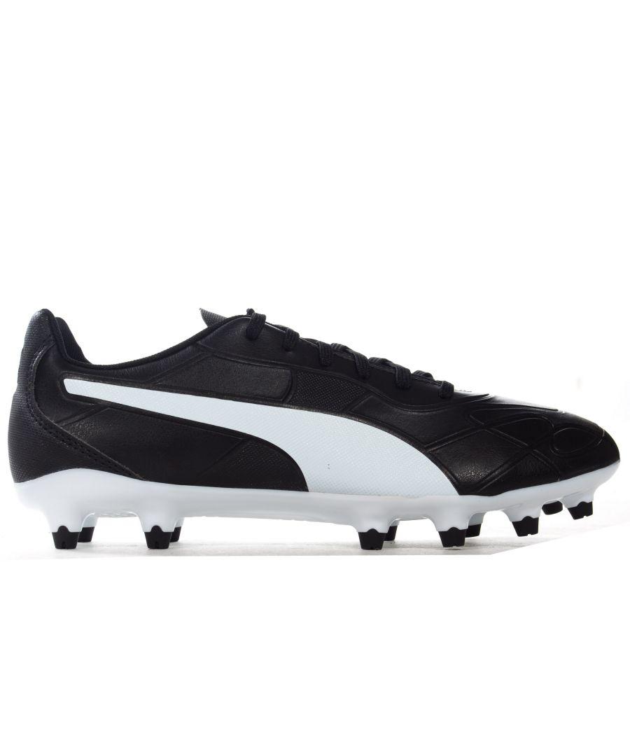 Image for Puma Monarch Fg Mens Football Boot Black/White
