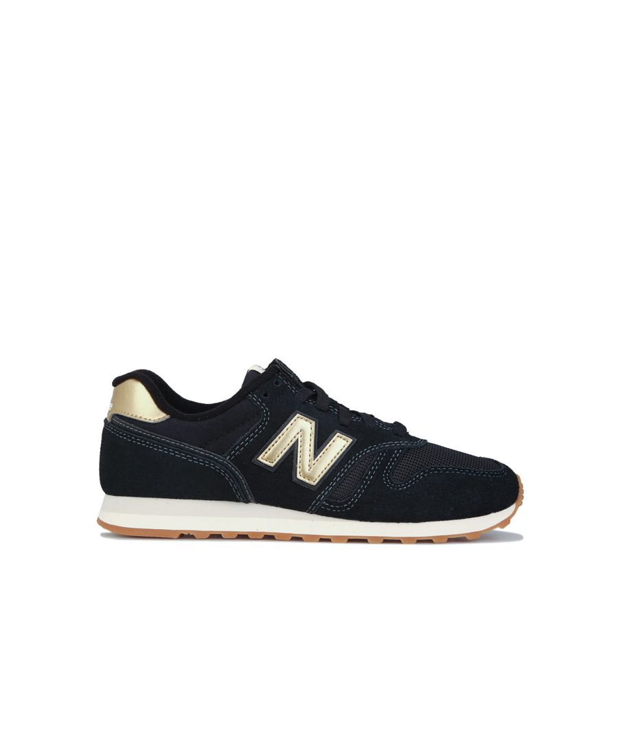 Image for Women's New Balance 373 Trainers in Black Gold
