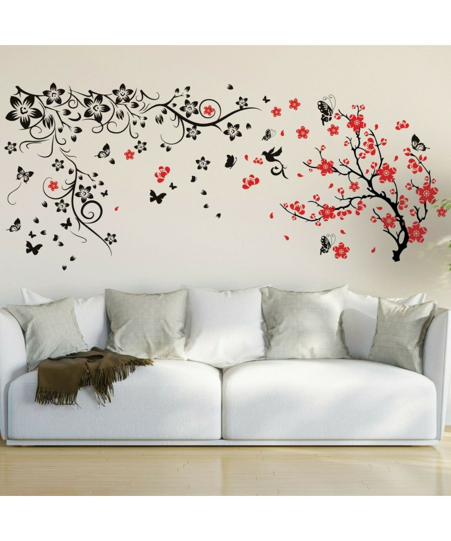 Image for Walplus Riordan Spring Flower Blossom Wall Sticker Decals Home Room Decorations