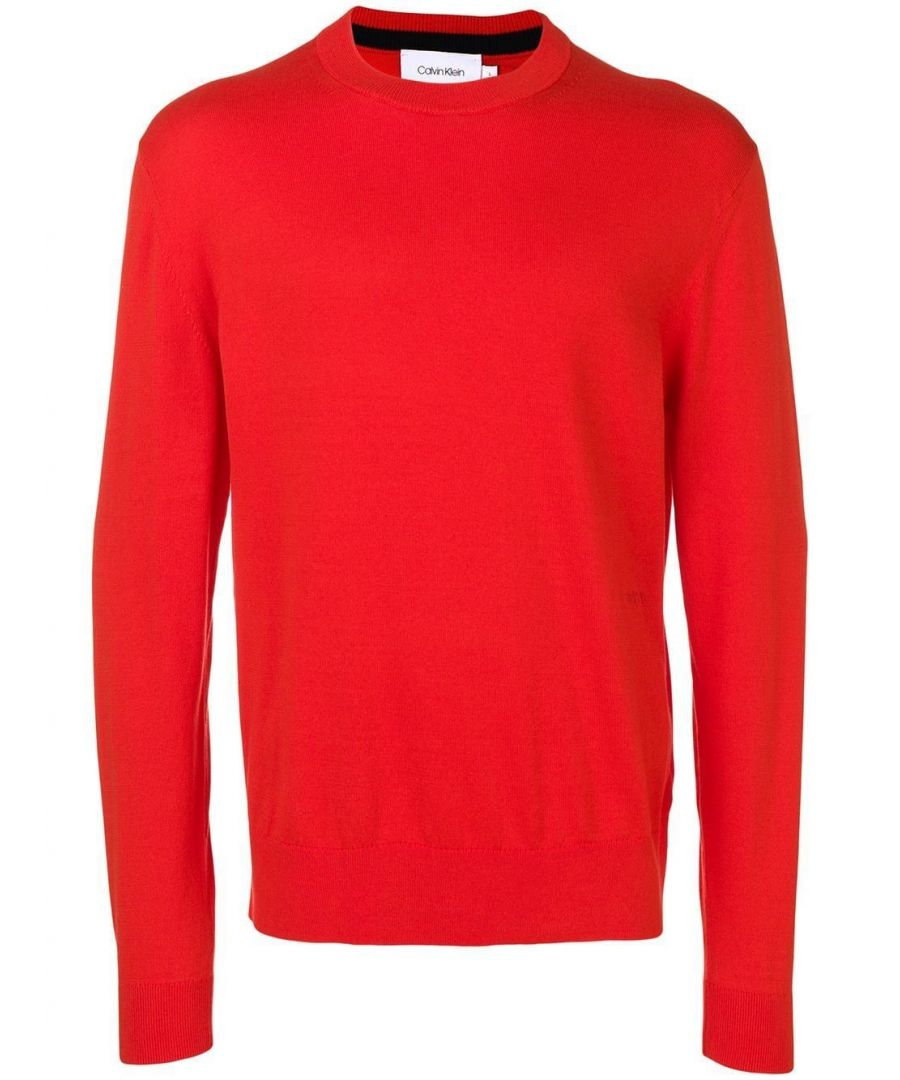 Image for CALVIN KLEIN MEN'S K10K103690659 RED COTTON SWEATER