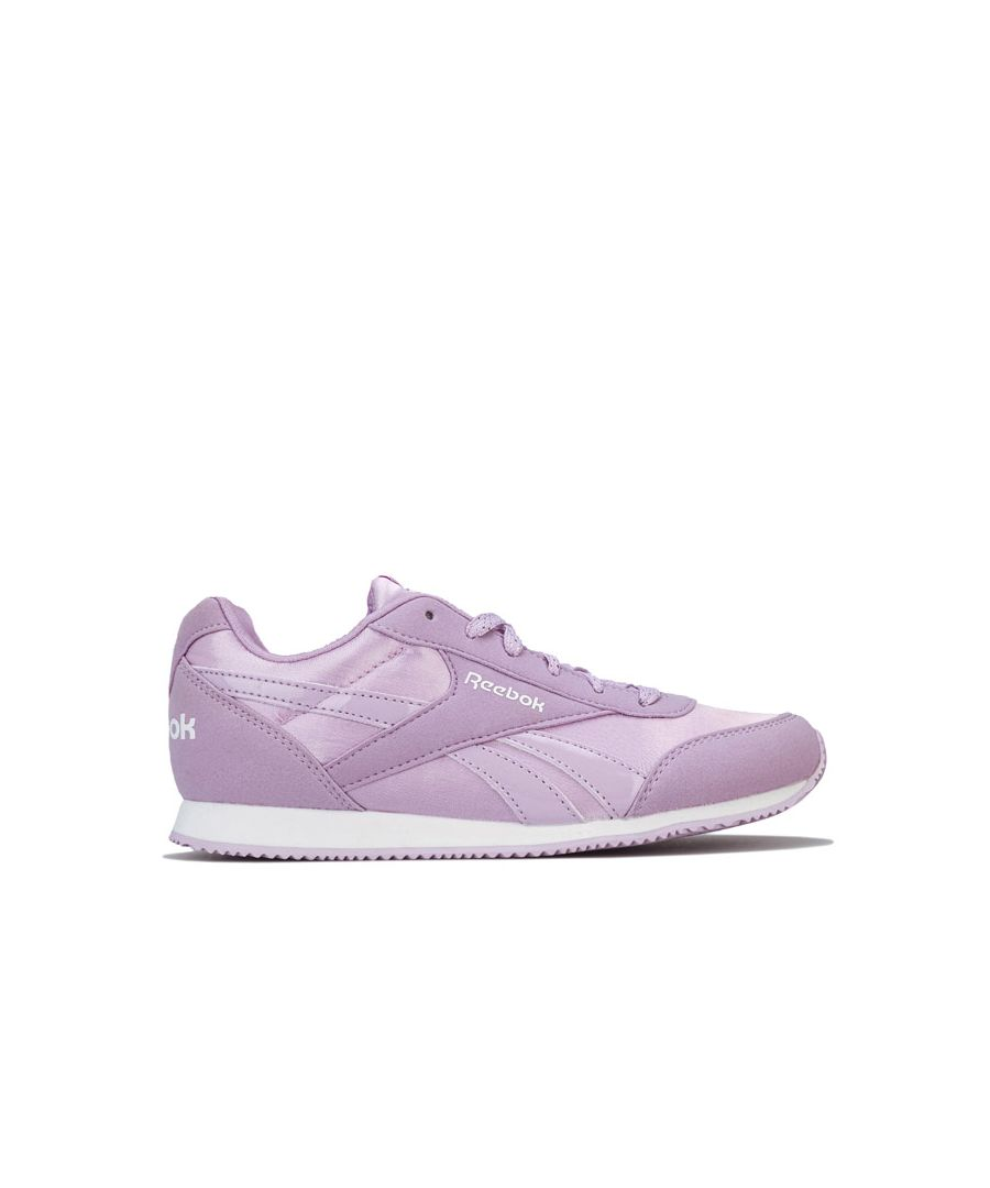 Image for Girl's Reebok Junior Royal CL Jog Trainers in Purple