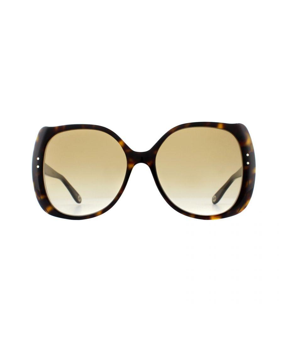 Image for Gucci Sunglasses GG0472S 002 Dark Havana Brown Gradient