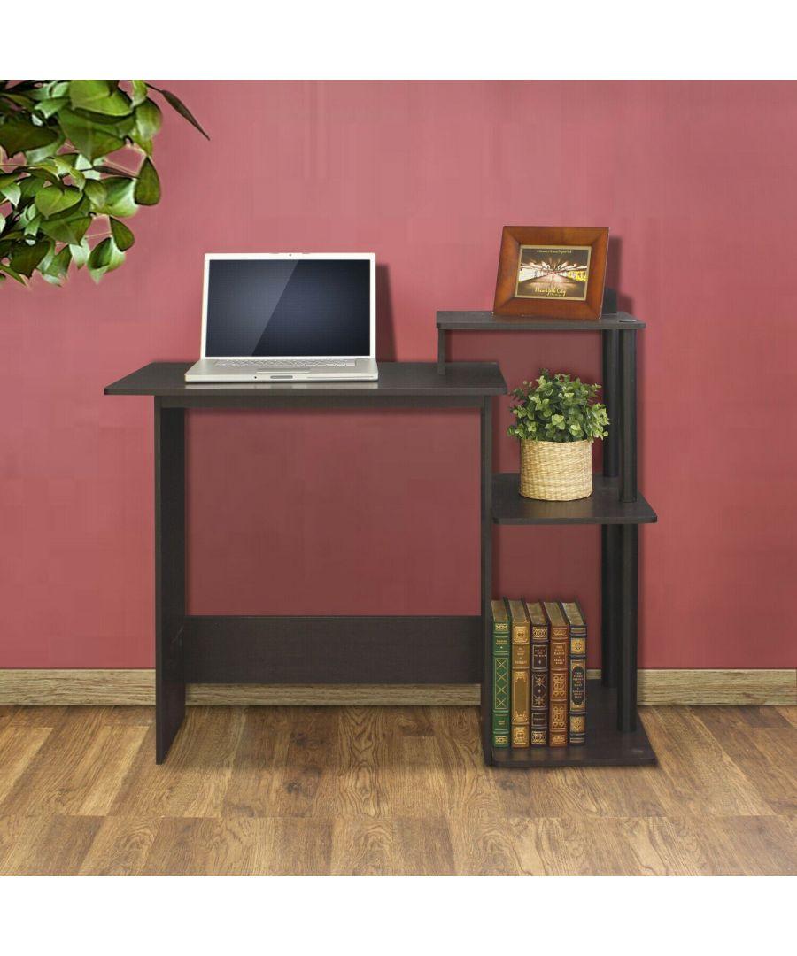 Image for Furinno Efficient Home Laptop Notebook Computer Desk - Espresso/Black
