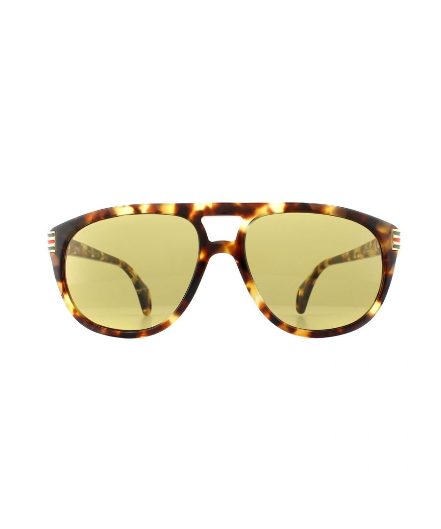 Image for Gucci Sunglasses GG0525S 004 Light Havana Green