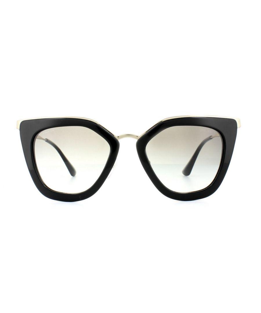 Image for Prada Sunglasses Cinema Evolution 53SS 1AB0A7 Black Grey Gradient