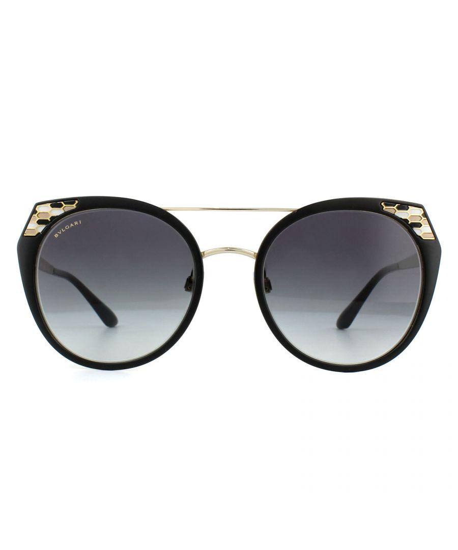 Image for Bvlgari Sunglasses BV6095 20248G Black Gold Grey Gradient