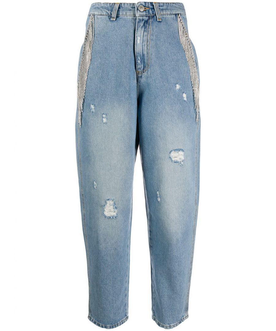 Image for CHIARA FERRAGNI WOMEN'S CFJS016DENIM BLUE COTTON JEANS