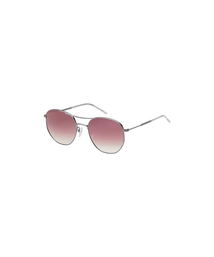 Image for Tommy Hilfiger Round metal unisex Sunglasses Ruthenium / Pink Multilayer