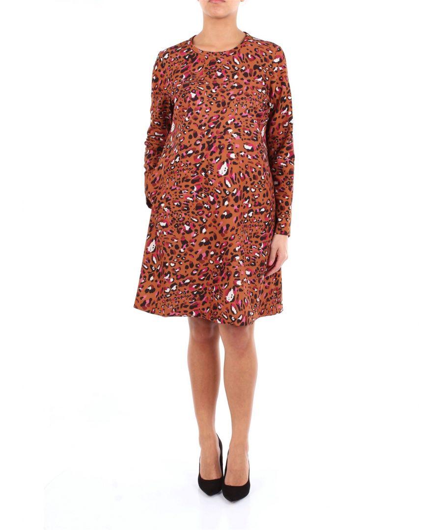 Image for ALTEA WOMEN'S 1966530FANTASIA BROWN VISCOSE DRESS