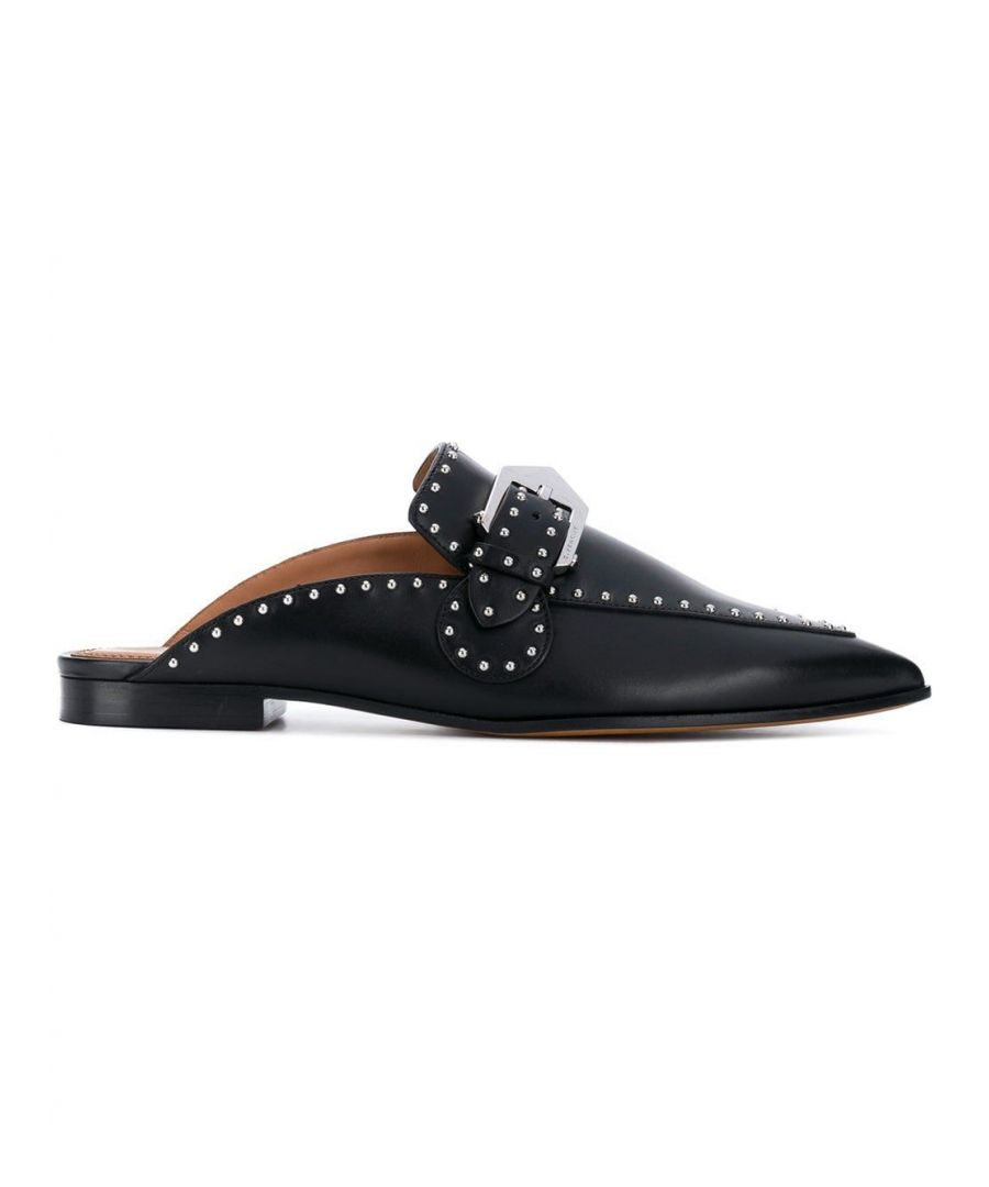Image for GIVENCHY WOMEN'S BE2007E00C001 BLACK LEATHER LOAFERS