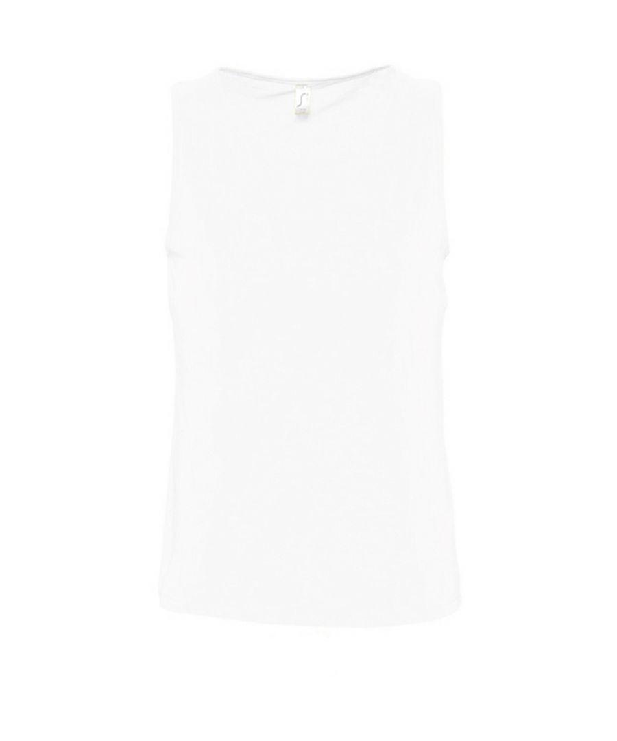 Image for SOLS Mens Justin Sleeveless Tank / Vest Top (White)