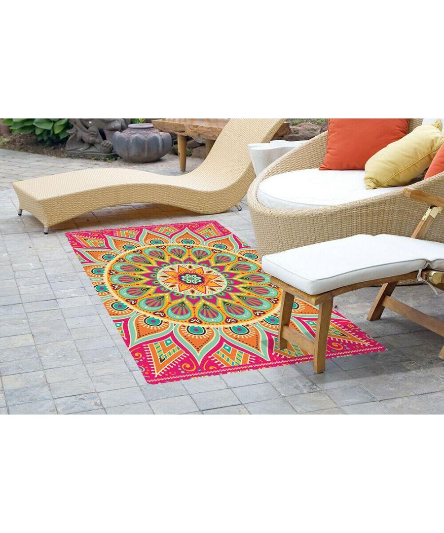 Image for WFM6221 - Colourful Sunburst Mandala Mat 150 x 99 cm