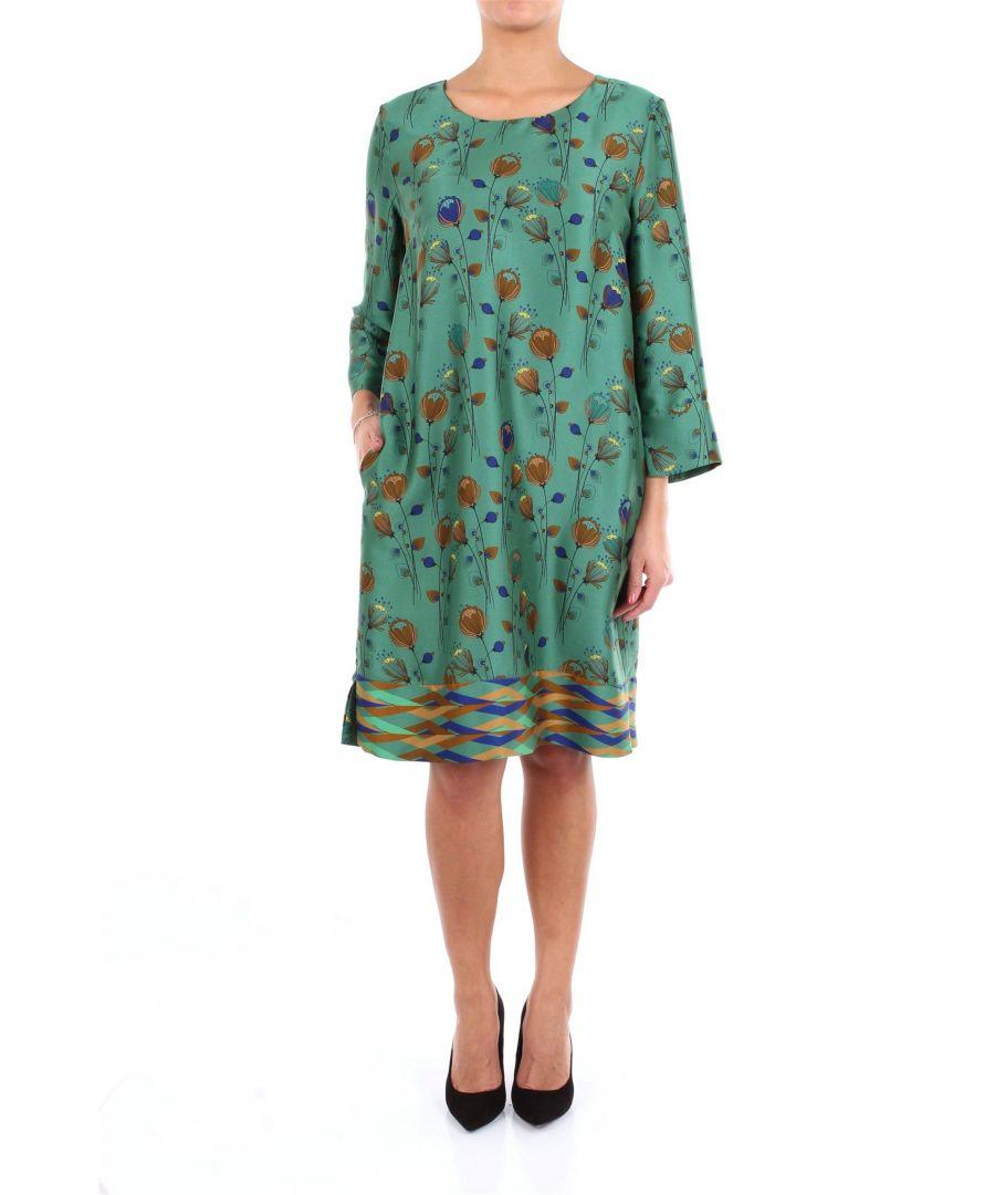Image for ALTEA WOMEN'S 1966501VERDEFANTASIA GREEN VISCOSE DRESS
