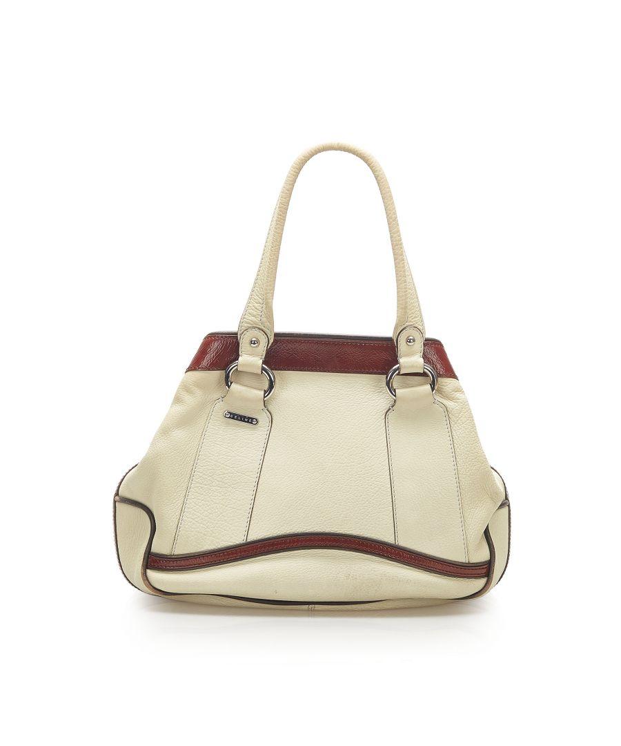Image for Vintage Celine Leather Tote Bag White