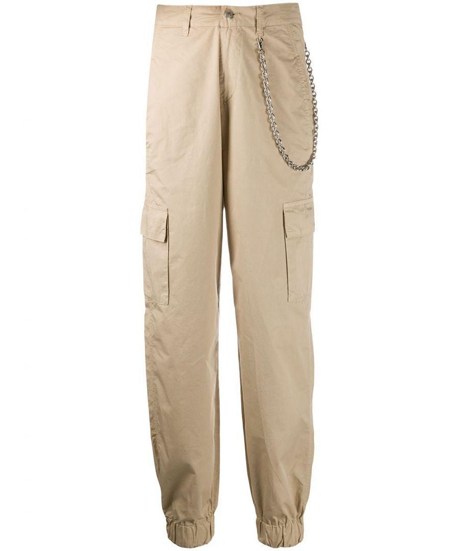 Image for CHIARA FERRAGNI WOMEN'S CFP058IVORYCREAM BEIGE COTTON PANTS