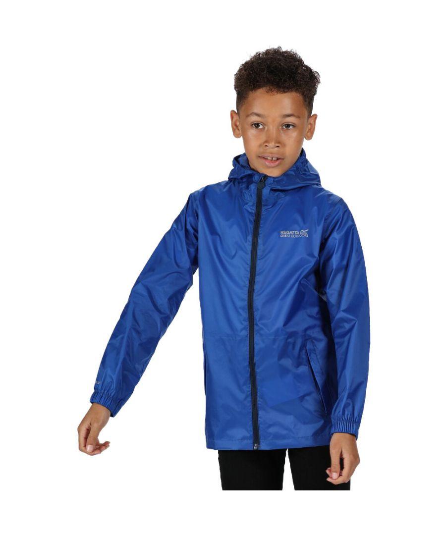 Image for Regatta Boys & Girls Pack-It Packable Waterproof Breathable Jacket