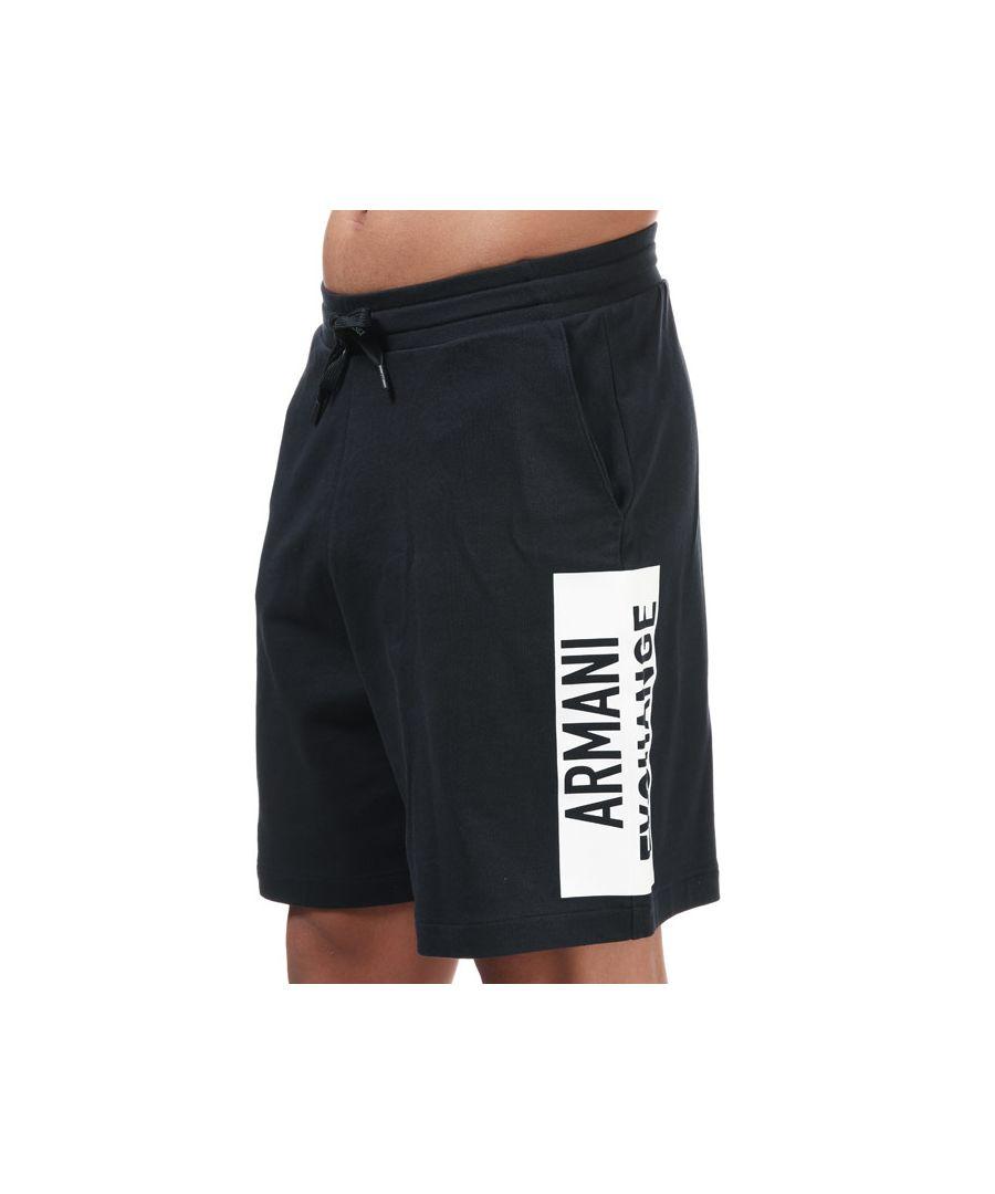 Image for Men's Armani Sweatshirt Bermuda Shorts in Navy