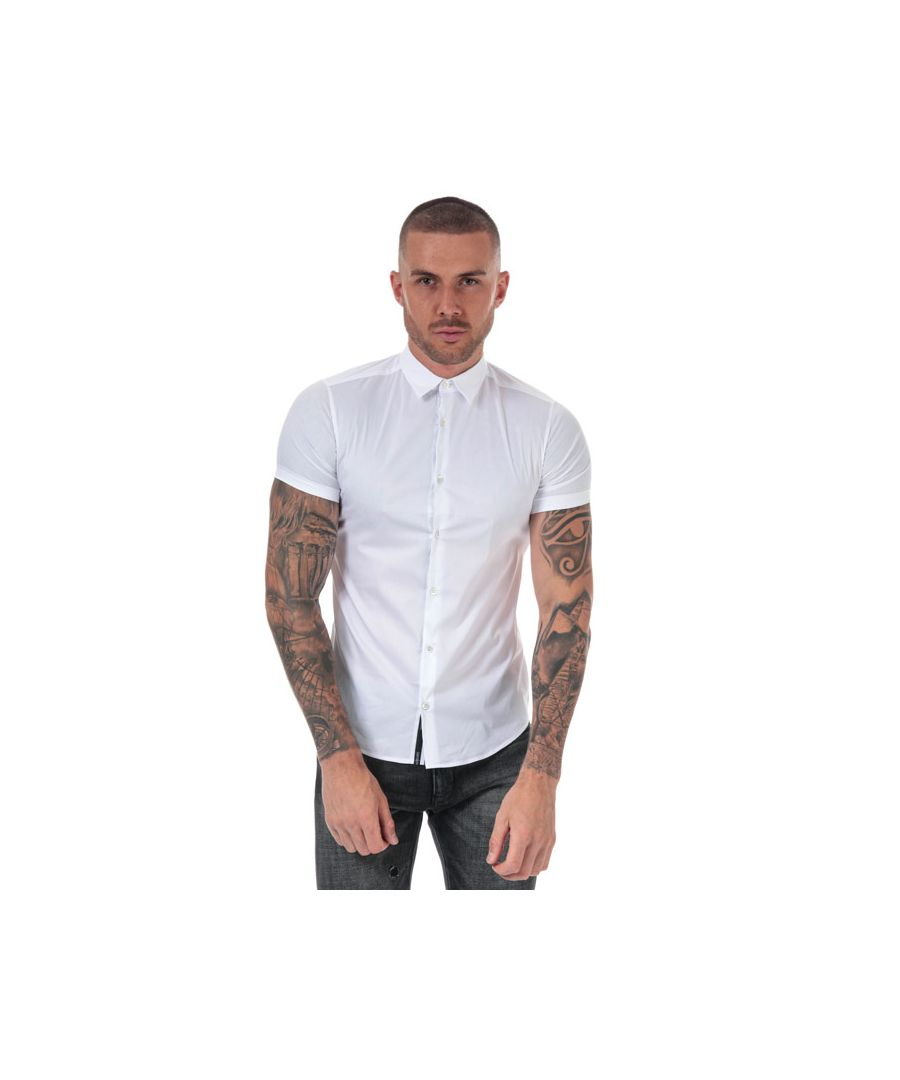 Image for Men's Armani Short Sleeve Shirt in White