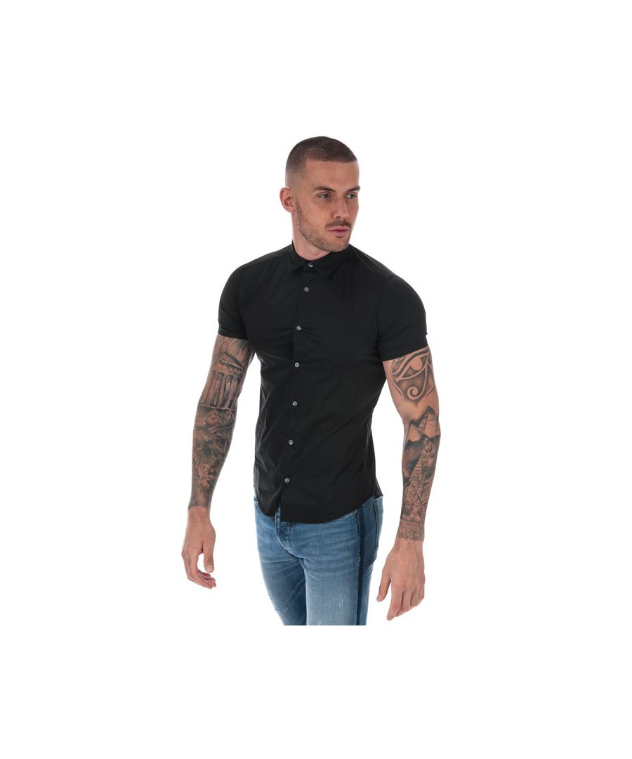 Image for Men's Armani Short Sleeve Shirt in Black