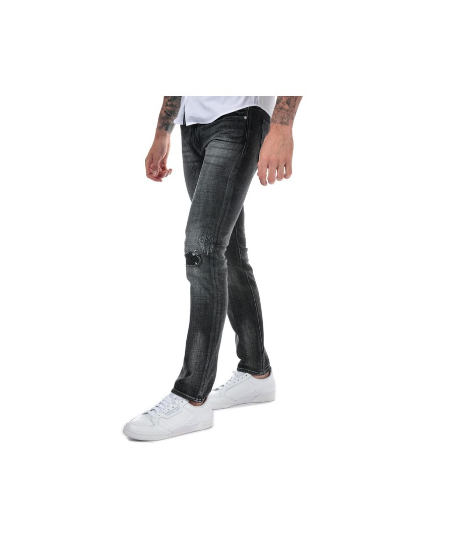 Image for Men's Armani J75 Slim Fit Jeans in Black