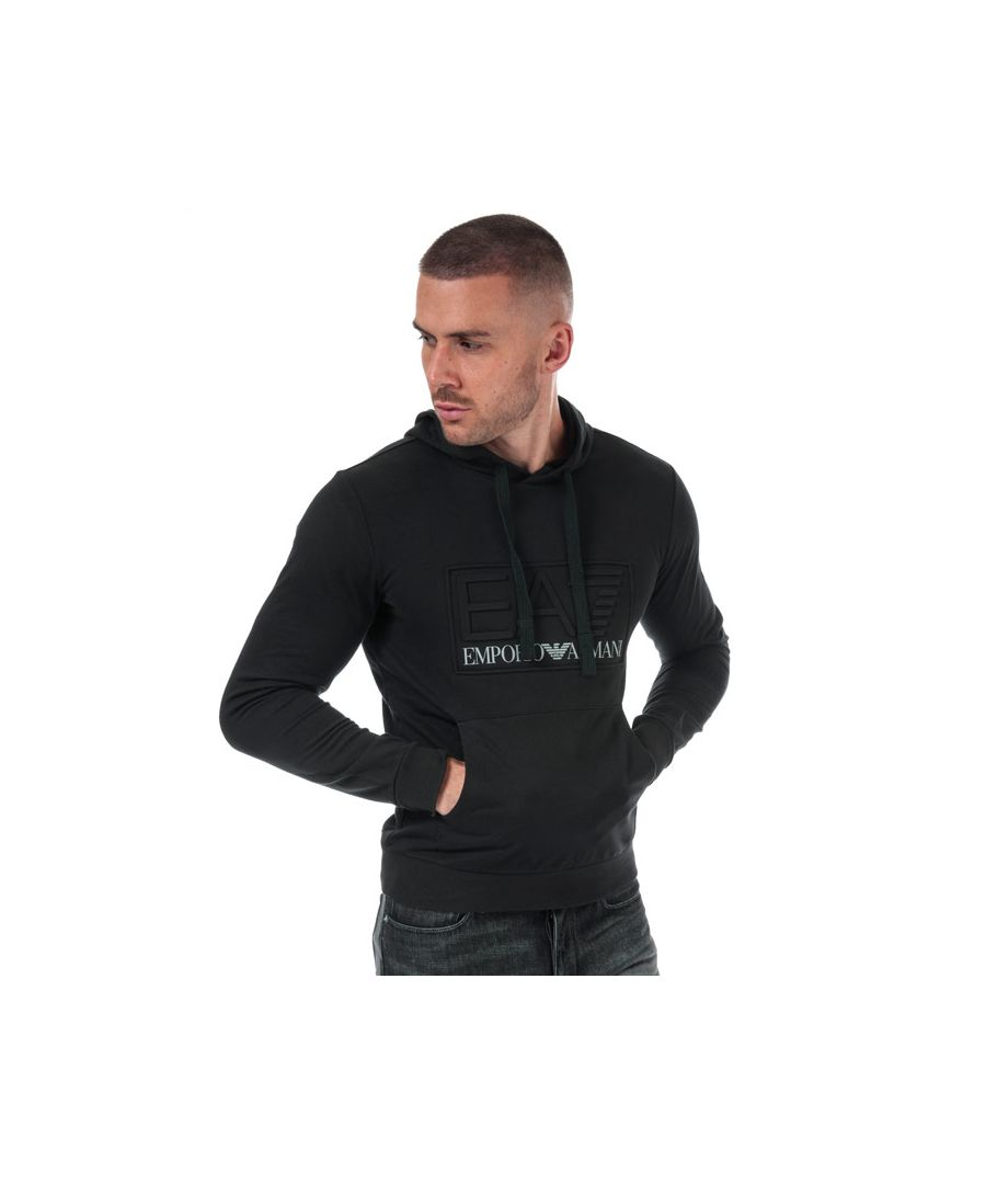 Image for Men's Emporio Armani EA7 Embossed Logo Hoody in Black