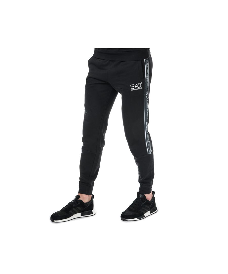 Image for Men's Emporio Armani EA7 Logo Tape Jog Pants in Black