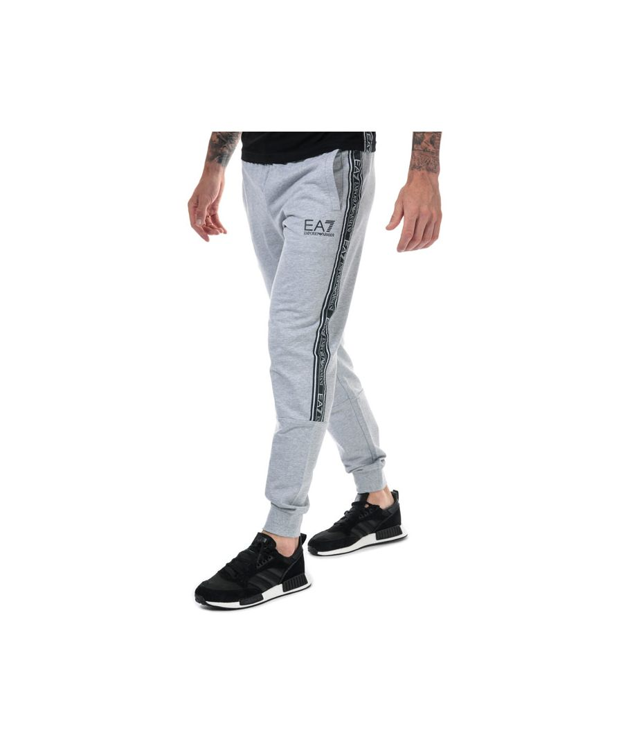 Image for Men's Emporio Armani EA7 Logo Tape Jog Pants in Grey