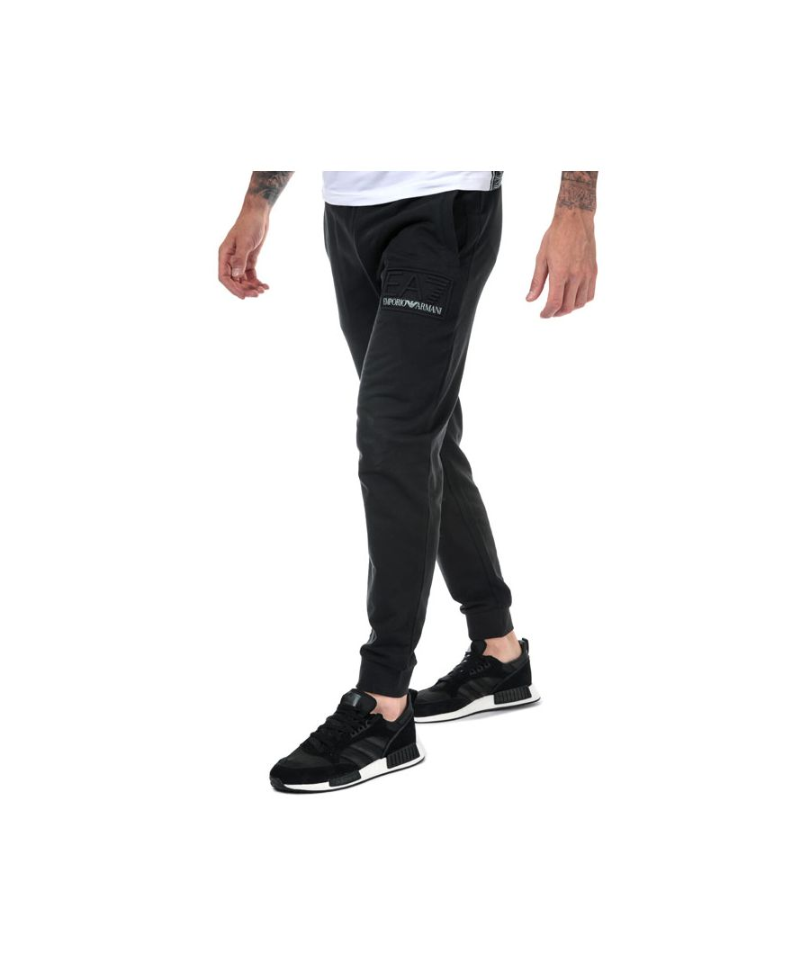 Image for Men's Emporio Armani EA7 Embossed Logo Jog Pants in Black