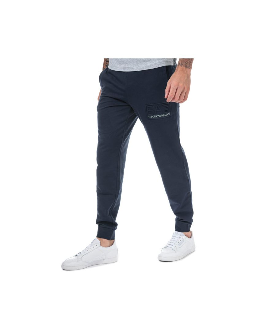 Image for Men's Emporio Armani EA7 Embossed Logo Jog Pants in Navy