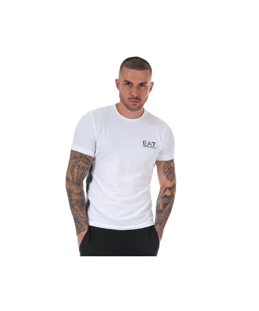 Image for Men's Emporio Armani EA7 Logo Tape T-Shirt in White